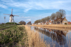 Damme village in Flanders Royalty Free Stock Images