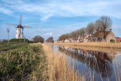 Dammedorp in Vlaanderen royalty-vrije stock afbeeldingen