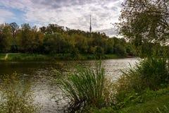 Dammet i Ostankino parkerar, Moskva Royaltyfria Foton