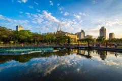 Dammet på Rizal parkerar, i Ermita, Manila, Filippinerna Royaltyfria Foton
