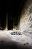 Dammig israelisk gasmask Arkivfoton