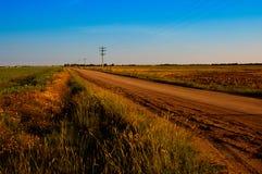 dammig väg för land Arkivfoto