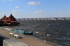 Dammstadt Dnepropetrovsk Lizenzfreies Stockbild