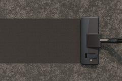Dammsugare på den bästa sikten för matta, närbild framförande 3d royaltyfri illustrationer