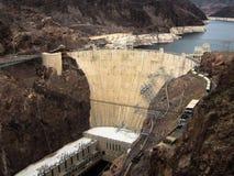 Dammsugarefördämning som byggs på sjön Mead Las Vegas, Nevada Arkivfoto
