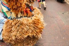 Dammtrasa för gatuförsäljareförsäljningshönsfjäder royaltyfri fotografi