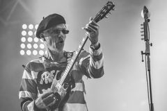 The Damned, Captain Sensible live concert Hellfest 2017. The Damned are an English rock band formed in London, England in 1976 by lead vocalist Dave Vanian stock photography