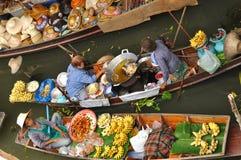 damnoen浮动的市场saduak泰国 免版税库存图片