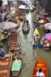 damnoen浮动的市场saduak泰国 免版税图库摄影