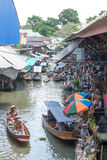 damnoen浮动的市场saduak泰国 图库摄影