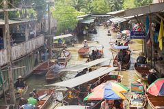 damnoen浮动的市场saduak 图库摄影