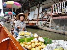 damnoen flottörhus marknadssaduak thailand Royaltyfri Bild