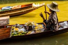 Damnoen Saduak市场,泰国 库存图片