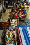 Damnoen Saduak市场,泰国 免版税库存照片