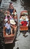 Damnoen Saduak浮动市场在泰国 免版税图库摄影
