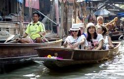 Damnoen Saduak Floating Market in Bangkok Royalty Free Stock Image