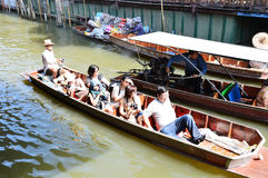 Damnoen Saduak Floating Market, Bangkok Royalty Free Stock Images