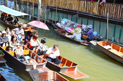 Damnoen Saduak Floating Market, Bangkok Royalty Free Stock Photography