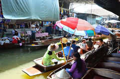 Damnoen Saduak Floating Market, Bangkok Royalty Free Stock Photos