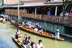 Damnoen Saduak Floating Market, Bangkok Stock Photos