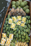Damnoen Saduak Floating Market Fruit, Bangkok, Tha Stock Photos