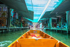 Damnoen Saduak Floating Market,Ratchabu,Thailand Royalty Free Stock Photography