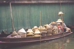 Damnoen Saduak floating market in Ratchaburi near Bangkok, Thail Stock Photography