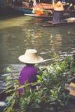 Damnoen Saduak floating market in Ratchaburi near Bangkok, Thail Stock Image