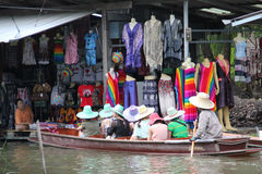 Damnoen Saduak Floating Market Royalty Free Stock Photos