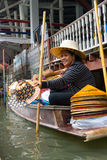 Damnoen Saduak floating market Royalty Free Stock Photo