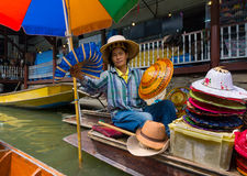 Damnoen Saduak floating market Stock Photography