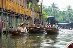 Damnoen Saduak floating market Stock Photos