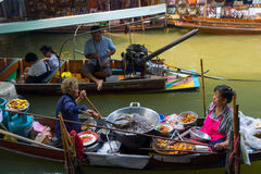 Damnoen Saduak floating market Stock Photo