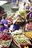 Damnoen Saduak Floating Market, Thailand Stock Photos