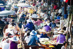 Damnoen Saduak Floating Market, Thailand Royalty Free Stock Photos