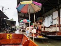 Damnoen Saduak Floating Market, Thailand. Stock Photos