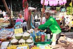Damnoen Saduak floating market in Thailand. Royalty Free Stock Photo