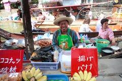 Damnoen Saduak floating market in Thailand. Royalty Free Stock Images