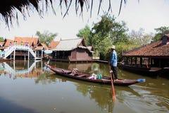 Damnoen Saduak floating market in Thailand. Royalty Free Stock Photos