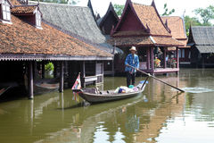 Damnoen Saduak floating market in Thailand. Stock Photography
