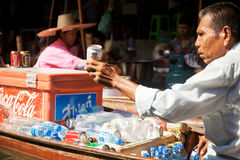Damnoen Saduak Floating Market Royalty Free Stock Images