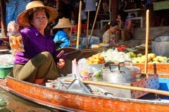 Damnoen Saduak Floating Market Stock Images