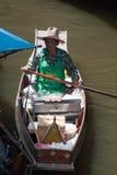Damnoen Saduak Floating Market in thailand Royalty Free Stock Photo