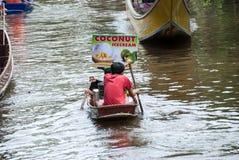 Damnoen Saduak Floating Market in thailand Stock Photography