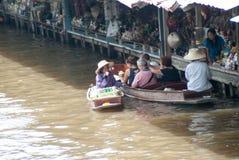Damnoen Saduak Floating Market in thailand Stock Image