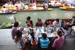Damnoen Saduak floating market in Thailand. Stock Photography