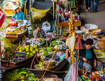Damnoen Saduak Market, Thailand Royalty Free Stock Photos