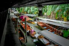 Damnoen Saduak sich hin- und herbewegender Markt Ratchaburi, Thailand Lizenzfreie Stockbilder