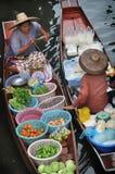 Damnoen Saduak spławowy rynek w Tajlandia Zdjęcie Royalty Free