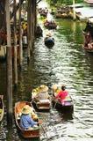DAMNOEN SADUAK, TAILÂNDIA Foto de Stock